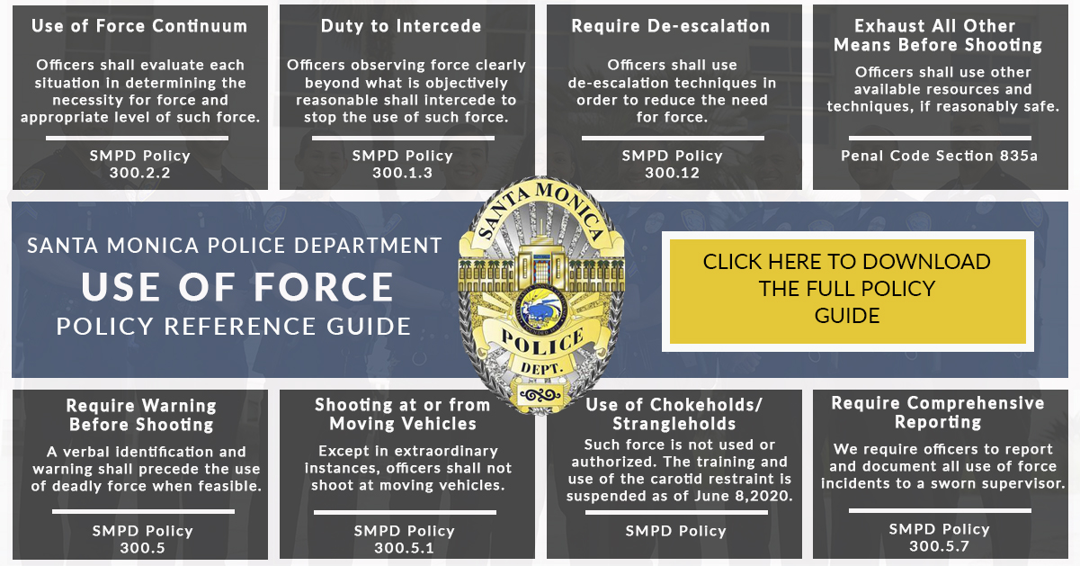 Use of Force Policy Summary